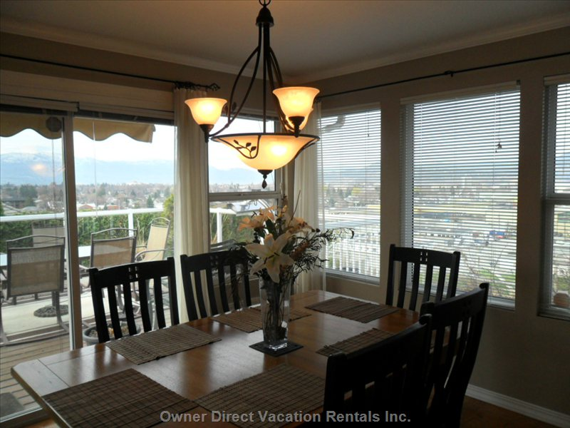 Formal Dining Room with City View