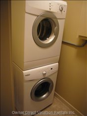 Handy, in-Unit Laundry. - all the Comforts of Home, in Unit Laundry.