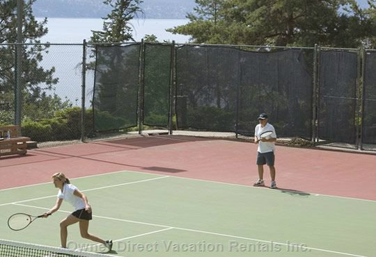 Tennis Courts Included, Just Book a Time. Racquets are Available in the Closet.
