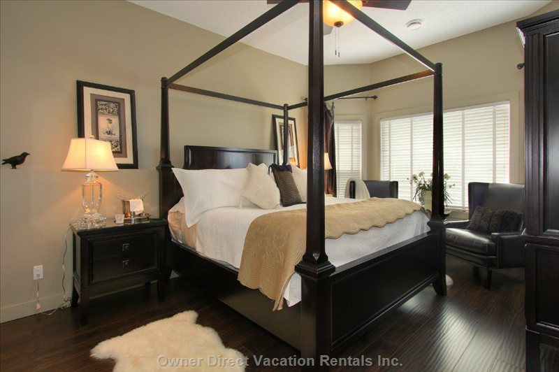 Master Bedroom with Ensuite and Comfy Leather Chairs to Cuddle up In.