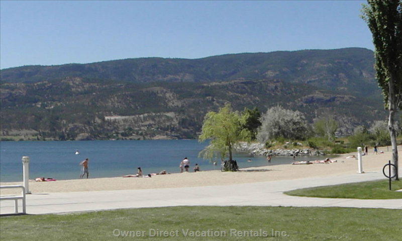 Beach at Tug Boat Bay - Nearby Beaches on Lake Okanagan.