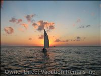 View from the Moon Bay Dock. - Sunsets Are Special in the Fabulous Florida Keys.
