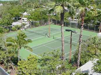 Tennis Courts on the Property