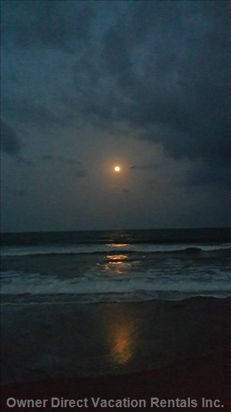 Nadan Beach in Full Moon.