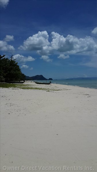 10 Kilometer Long Fine White Sandy Beach.