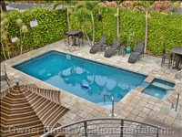 Enclosed Pool Area Shared by 4 Units - 30' Long, 6' Deep, and Heated to 82 Degrees F.