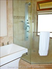 Master Bathroom Ensuite has Walk-in Shower with Grohe Shower System