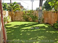 Grassed Yard beside the Lower Lanai Area