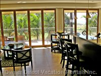 View Towards Upper Lanai; Folding Doors Shown Closed in this Photo