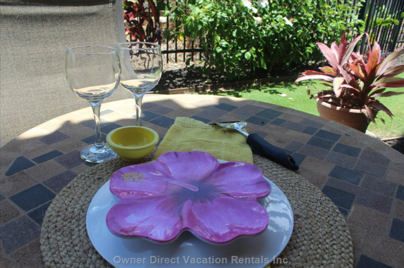 Enjoy a Glass of your Favorite Beverage on your Private Lanai