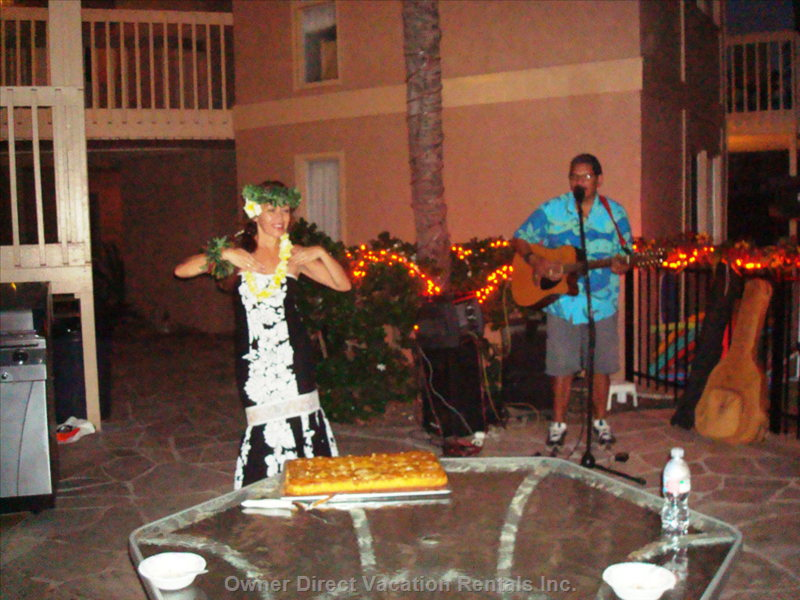 Hula Dancer on the Patio