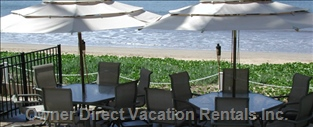 Ocean Front Patio for you to Enjoy