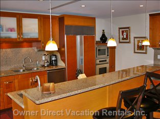 Kitchen - with High Quality Appliances, Granite Counters and Back Splash