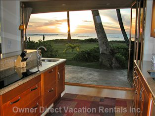 Sunset View from the Kitchen; what a Great Place to Cook!!!