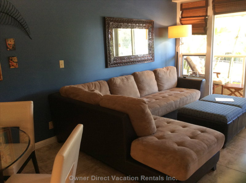 Large Sectional Couch that Doubles as Two Twin Beds