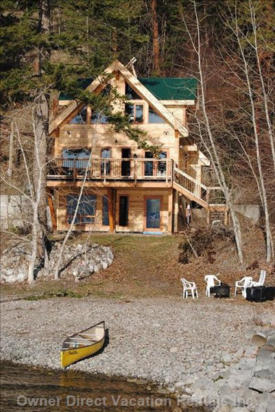 Beautiful Water Front Cabin with Private Beach and Dock