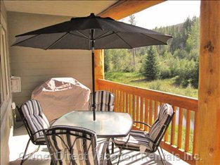 Bbq & Patio Furniture on Back Deck