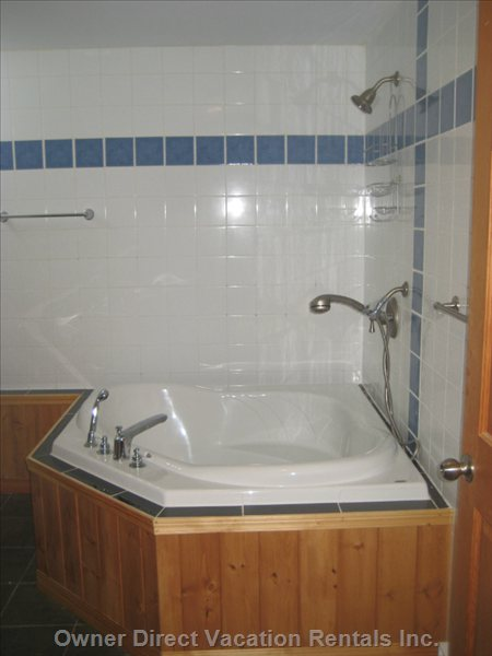 Corner Tub with Shower over
