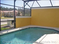 Fully Enclosed Pool with Privacy Screen