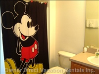 2nd Floor Bathroom with Mickey Mouse Theme