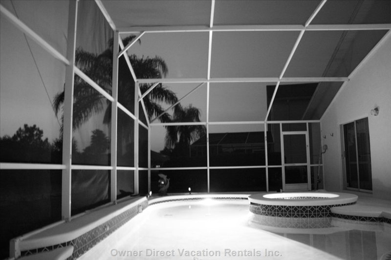 Pool in Black and White