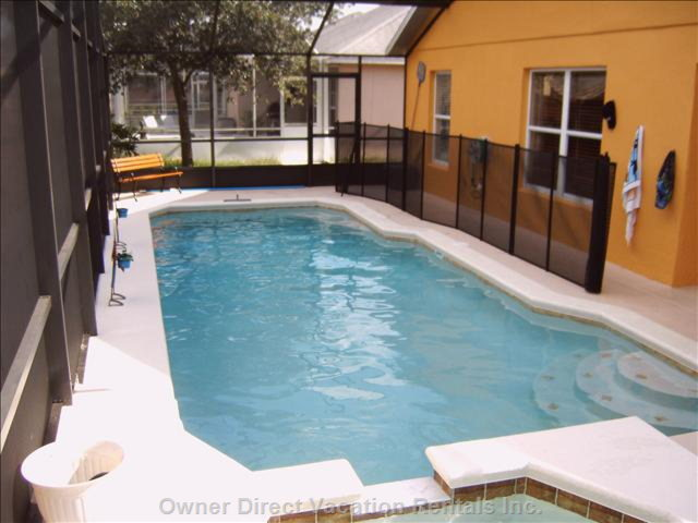 30 Feet Long Pool with Child Fence