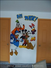The Disney Characters Welcome you to our Home