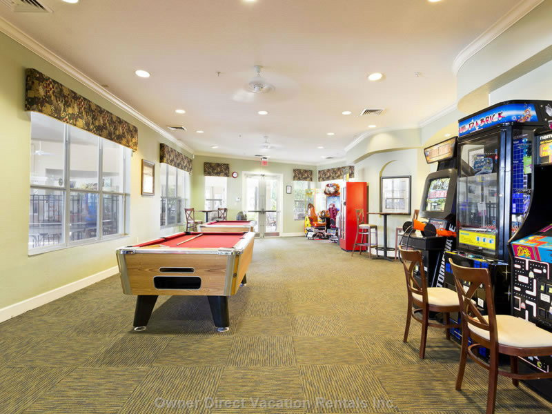 Windsor Hills Game Room Area.