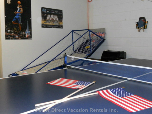 Air-Conditioned Games Room with Table Tennis, Air Hockey, Foosball, and and