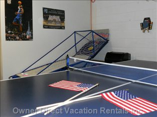 Air-conditioned Games Room with Table Tennis, Air Hockey, Foosball, Darts and Swirlball