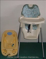 Highchair & Baby Bath