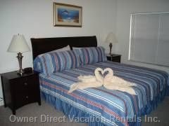Master Bedroom with King Size Bed, Cable Tv, Walking Closet, Private Bathroo