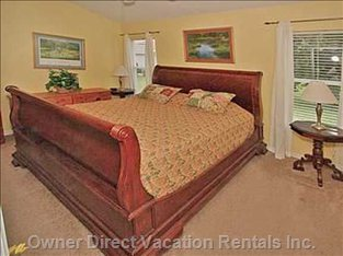 Big, Comfortable King Master Suite with Ensuite, TV and DVD