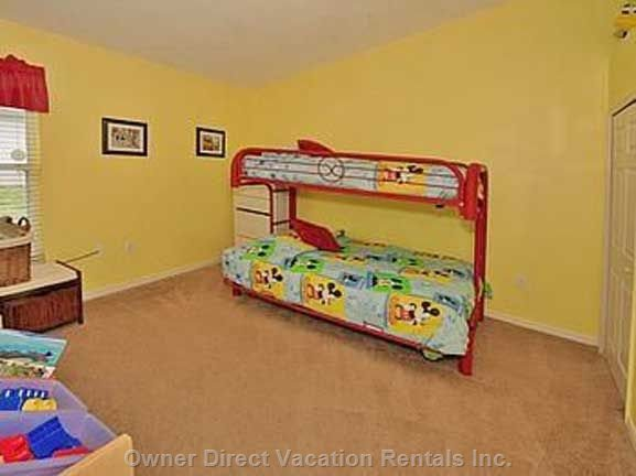 Great Bedroom for the Kids with ps2,Toys, and Videos