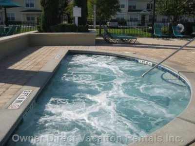 Outdoor Jetted Whirlpool Tub with Waterfront View
