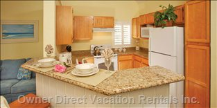 Full Kitchen Includes Dishwasher, Full Size Range, Oven, Microwave and more !
