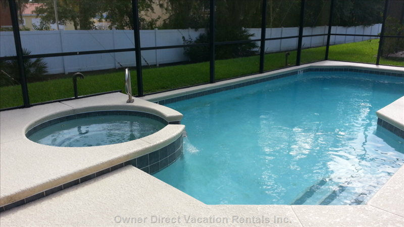 Private Screened Pool and Spa (Gas Heater)