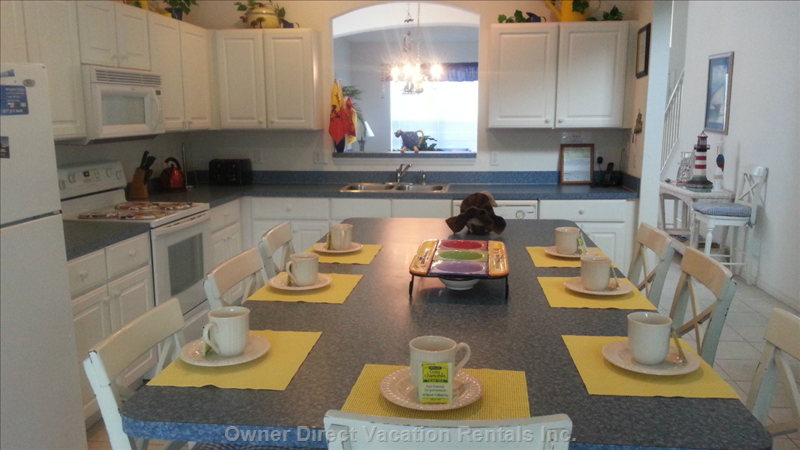 Kitchen Island Seats 6-8 People Comfortably