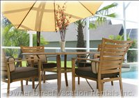 Patio with Upgraded Patio Furniture