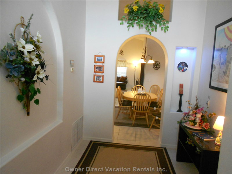 Welcome to the inside of the Villa. The Entrance Hallway