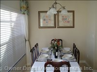 Dining Area - Formal Dining Table with 6 Chairs