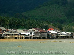 Old Town is a Small Fishing Village on Lanta's East Coast