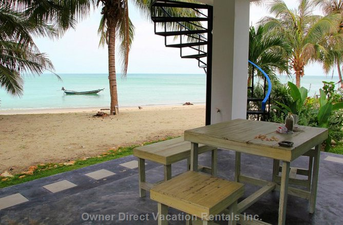 A Shot of our Private Beach from the Living Room