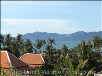 Glimpse of the Villa'S Tropical Sea Views with Neighbouring Island of Ko Phan Ngan as Backdrop.