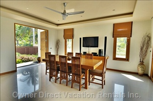 Downstairs Dining Area with Entertainment Center