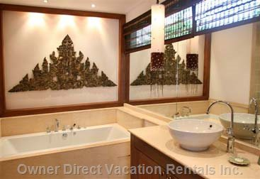 Master Bathroom with Jacuzzi Bath and Shower Room