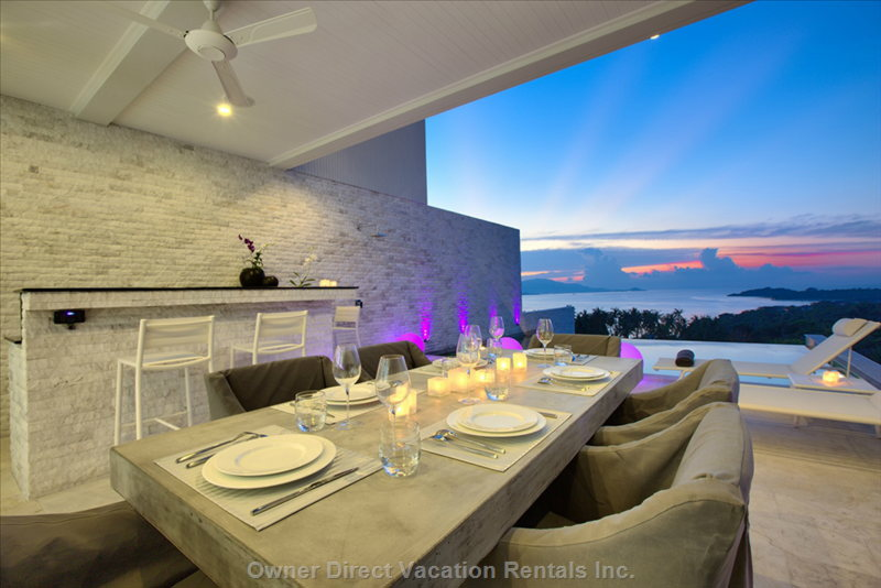 Dine al fresco with awesome view