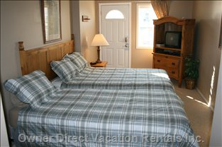 Bedroom #2 - Double and Twin Beds, 4 Piece Bath Room, Tv