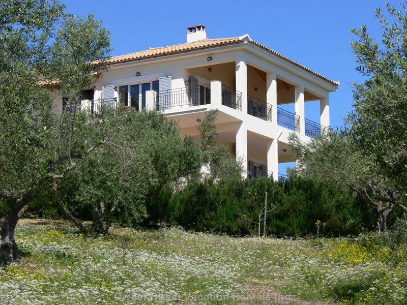 The Villa is Located in a Lovely Quit Olive Grove with 70 Olive Trees. The View over See, Mountain and  Landscape is Spectacular.