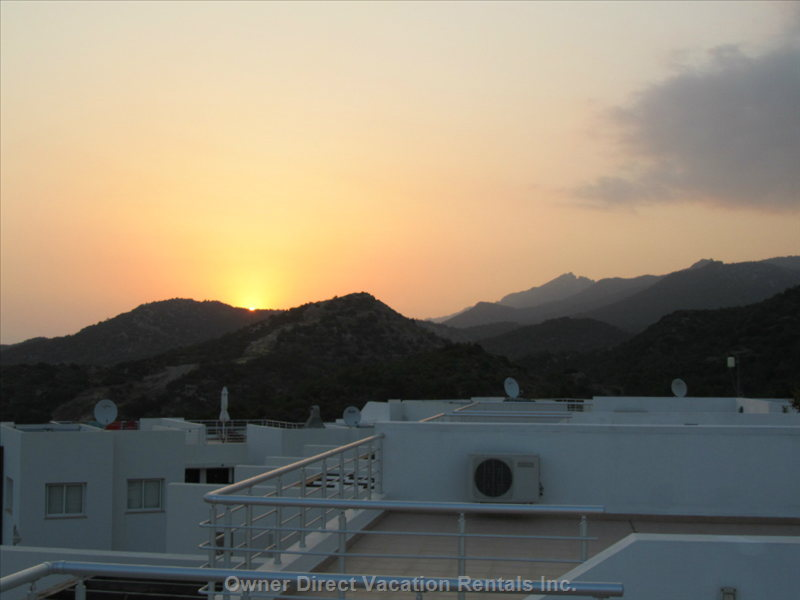 Sun Rise View from Penthouse Private Roof Terrace
